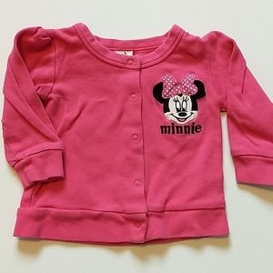 Minnie Mouse Pink Cardigan * Size 12 months